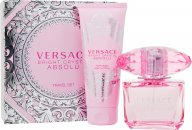 Versace Bright Crystal Absolu Set de Regalo 5ml EDP + 25ml Loción Corporal + 25ml Gel de Ducha