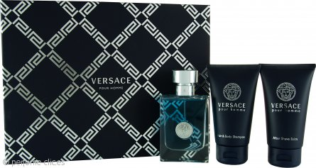 Versace pour Homme Set de Regalo 50ml EDT + 50ml Gel de Ducha + 50ml Bálsamo Aftershave