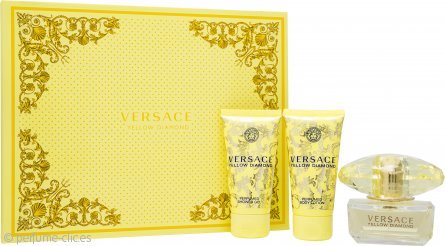 Versace Yellow Diamond Set de Regalo 50ml EDT + 50ml Gel de Ducha+ 50ml Loción Corporal