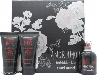 Cacharel Amor Amor Forbidden Kiss Set de Regalo 50ml EDT Vaporizador + 2 x 75ml Loción Corporal