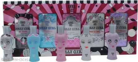 Anna Sui Dolly Girl Set de Regalo Cofre Miniaturas 5 x 4ml