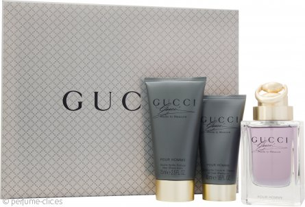 Gucci Made to Measure Set de Regalo 90ml EDT Vaporizador + 75ml Bálsamo Aftershave + 50ml Gel de Ducha