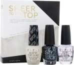 OPI Nail Polish Sheer To The Top Set de Regalo 15 ml Cubierta  + 15ml Cubierta Mate + 15ml So Elegant
