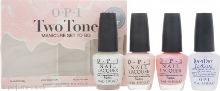 OPI Nail Polish Two Tone Manicure To-Go Set de Regalo 4 x 15ml Laca de Uñas
