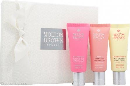 Molton Brown Set de Regalo Crema de Manos Reconstituyente 3 x 40ml – Pimienta Rosa + Alpinia + Naranja y Bergamota