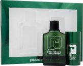 Paco Rabanne Paco Rabanne Pour Homme Set de Regalo 100ml EDT + 75ml Desodorante en Barra