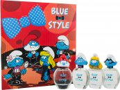 Pitufos Blue Set de Regalo Estilo 4 x 50ml EDT Vaporizador - Papa + Clumsy + Smurfette + Brainy