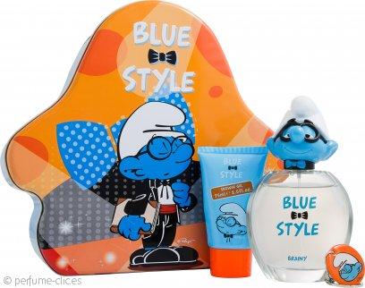 The Smurfs Brainy Set de Regalo 100ml EDT + 75ml Gel de Ducha + Cadena Llave