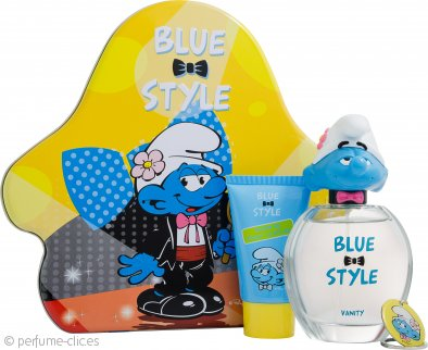 The Smurfs Vanity Set de Regalo 100ml EDT + 75ml Gel de Ducha + Cadena Llaves