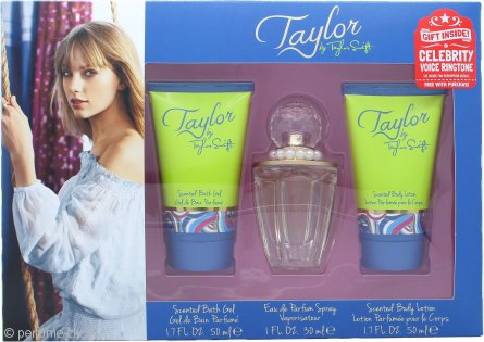 Taylor Swift Taylor Set de Regalo 30ml EDP + 50ml Gel  de Ducha + 50ml Loción Corporal + Tono Llamada Famosa Gratis