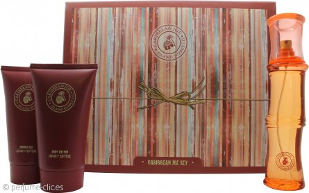 Caribbean Joe For Her by Caribbean Joe Set de Regalo 100ml EDT + 150ml Loción Corporal + 150ml Gel de Ducha