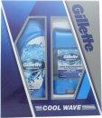 Gillette Cool Wave Set de Regalo 250ml Gel de Ducha + 70g Desodorante en Gel Claro