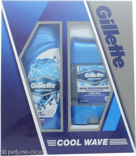 Gillette Cool Wave Set de Regalo 250ml Gel de Ducha + 70g Desodorante en Gel Claro