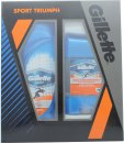 Gillette Sport Triumph Set de Regalo 250ml Gel de Ducha + 70g Gel Desodorante Claro