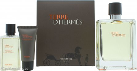 Hermes Terre D'Hermes Set de Regalo 100ml EDT + 40ml Gel de Ducha + 15ml Bálsamo Aftershave