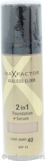 Max Factor Ageless Elixir Base 2 en 1 + Serum 30ml Marfil 40