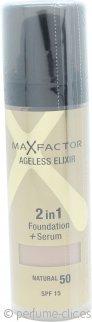 Max Factor Ageless Elixir Base 2 en 1 + Serum 30ml Natural 50