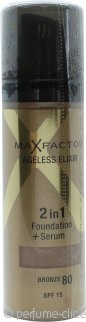 Max Factor Ageless Elixir Base 2 en 1 + Serum 30ml Bronceado 80