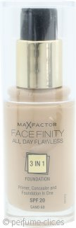 Max Factor Facefinity Base 3 in 1 Perfección todo el Día SPF20 30ml - 60 Sand
