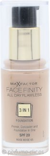 Max Factor Facefinity Base 3 in 1 Perfección todo el Día SPF20 30ml - 65 Rose Beige