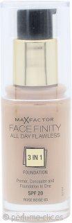 Max Factor Facefinity Base 3 in 1 Perfección todo el Día 30ml - SPF20 Beige Rosa 65