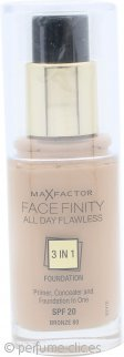 Max Factor Facefinity All Day Flawless 3 in 1 Foundation 30ml - SPF20 Bronze 80