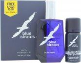 Parfums Bleu Limited Blue Stratos Set de Regalo 100ml EDT + 45ml Espuma de Afeitado