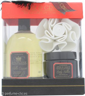 Style & Grace Set de Regalo Decadence Cuerpo y Baño Riqueza Irresistible 500ml Crema de Baño + 170ml Manteca Corporal + Esponja de Flor