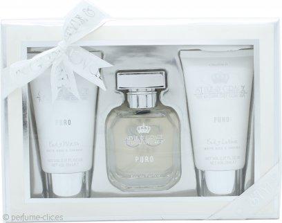 Style & Grace Puro Fragrance Set de Regalo 50ml EDP + 70ml Gel Corporal + 70ml Loción Corporal