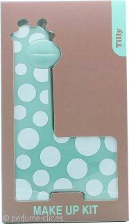 Tilly Giraffe Kit Maquillaje - 18 x Sombra de Ojos + 2 x Colorete + 3 x Brillo Labial + 2 x Aplicador