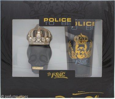 Police To Be The King Set de Regalo 40ml EDT Vaporizador + 100ml All Over Champú Corporal