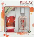 Replay For Her Set de Regalo 20ml EDT + 50ml Gel de Ducha