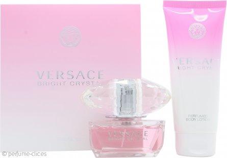 Versace Bright Crystal Set de Regalo 50ml EDT + 100ml Loción Corporal