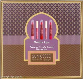Sunkissed Moroccan Ombre Lips Set de Regalo 3 x Lápiz Labios + 2 x Brillo Labial