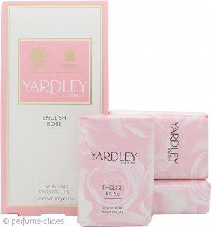 Yardley English Rose Jabón 3x 100g