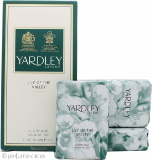 Yardley Lily of the Valley Jabón 3x 100g