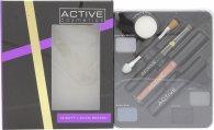 Active Glamour Night Look Cosmetic Palette - Sombra Ojos + Lápiz Ojos Negro + Brillo Labial + Rímel Negro + Espejo