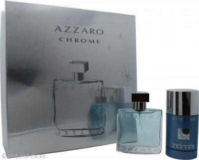 Azzaro Chrome Set de Regalo 50ml EDT + 75ml Desodorante de Barra