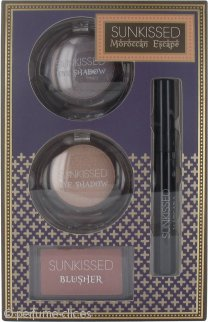 Sunkissed Moroccan Escape Dream Glow Set de Regalo 2 x 6g Sombra de Ojos + 4g Colorete + 5.5ml Rímel Negro