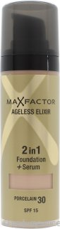 Max Factor Ageless Elixir Base 2 en 1 + Serum 30ml Porcelana 30