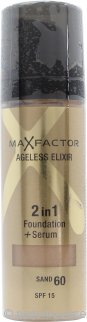 Max Factor Ageless Elixir Base 2 en 1 + Serum 30ml Tierra 60