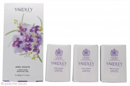 Yardley April Violets Jabón 3x 100g