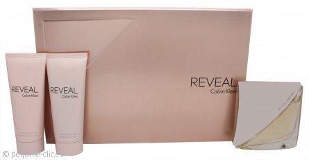 Calvin Klein Reveal Set de Regalo 100ml EDP Vaporizador + 100ml Loción Corporal + 100ml Gel de ducha
