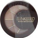 SUNkissed Cosmetics Radiance Compact - Polvo Bronceador + Sombras Ojos + 4 Brillos Labiales + 1 Brocha Mini Colorete + 1 aplicador ojo/labios