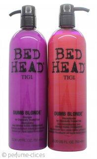 Tigi Duo Pack Bed Head Dumb Blonde 750ml Champú + 750ml Acondicionador