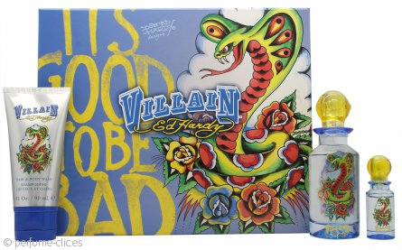 Ed Hardy Villain Man Set de Regalo 75ml EDT + 90ml Gel de Ducha + 7.5ml EDT Mini