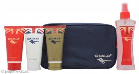 Gola Set de Regalo 75ml Gel Corporal + 75ml Gel de Pelo + 75ml Bálsamo Hidratante + 150ml Spray Corporal Hidratante + Bolsa de Baño