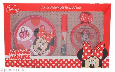 Disney Minnie Mouse Set de Regalo 50ml EDT + Brillo Labial + Bolso
