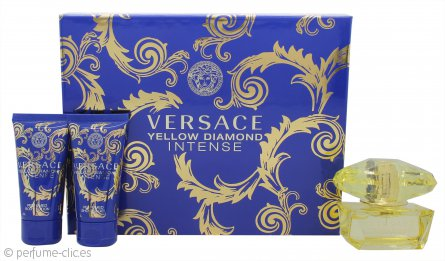 Versace Yellow Diamond Intense Set de Regalo 50ml EDP + 50ml Loción Corporal + 50ml Gel de Ducha
