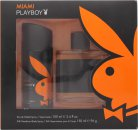 Playboy Miami Set de Regalo 100ml EDT + 150ml Desodorante en Vaporizador